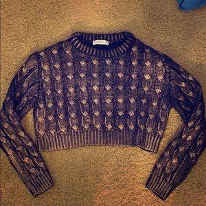 Cropped Zara sweater